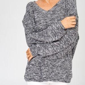 NWT Wishlist Balloon Sleeve Sweater Heather Black
